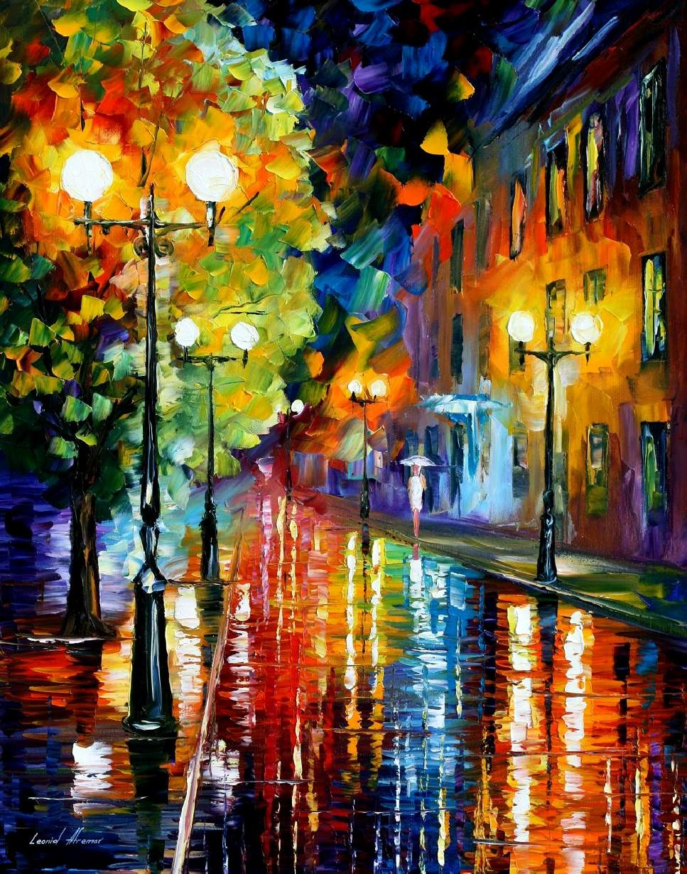 mysterious night iileonid afremov paintings on canvaswall arthigh qualityhand painted from kixhome dhgatecom