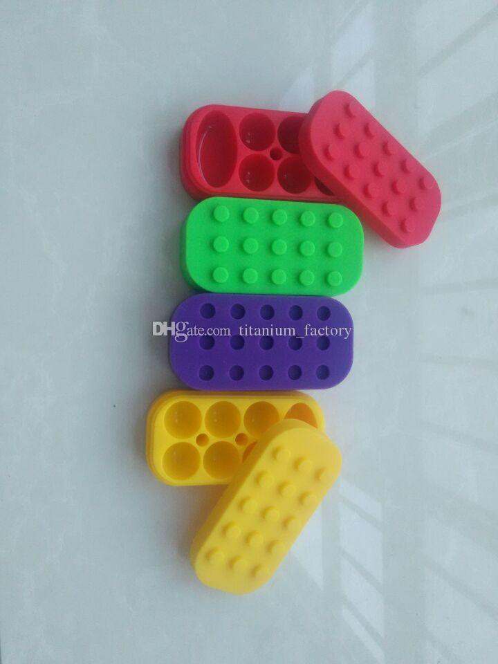 32 ML 6 + 1 Recipiente De Silicone caixa de Silicone Jar para o transporte de cor aleatória de óleo de Cera