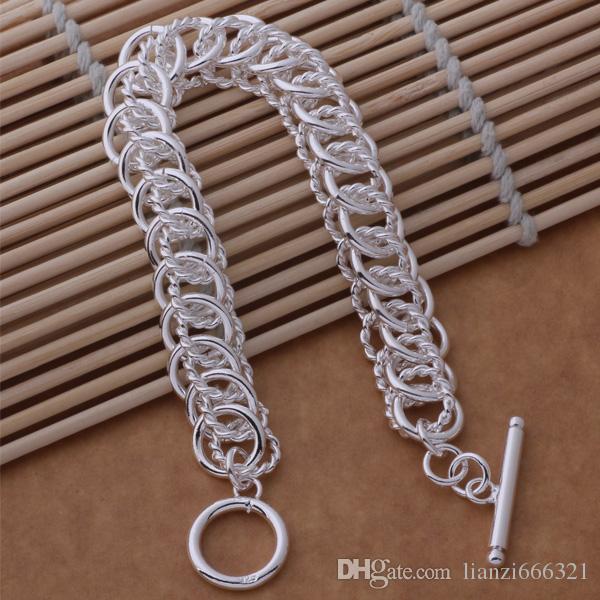 Fashions Jewelry Manufacturer925 Sterling Silver multi circle link Bracelets fashion jewelry Bracelets jewelry factory price