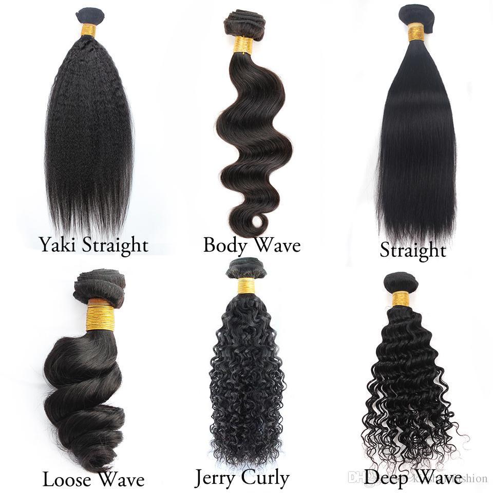Бразильский Девы волос Body Wave 4 Связки 8-28 дюймов Remy человеческих Плетение волос Straight рыхлый глубокий Jerry завитые кудрявый Extensions прямых волос