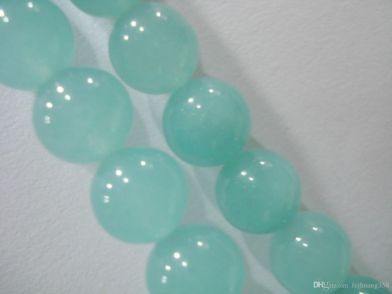 Perla suelta redonda de gemas de aguamarina brasileña de 8 mm 15
