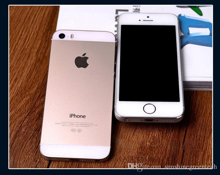 "iPhone 5S Refurbished Phones Original Apple iPhone 5S Cell Phones 16G IOS Dual Core 4.0"" Smartphone DHL free"