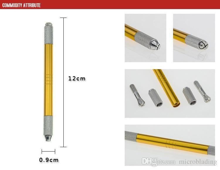 Cross Head Open Aluminiumlegierung Mix Farbe Stickerei Muster Stift Pinsel Strokes Augenbrauen Lip Tattoo Tools