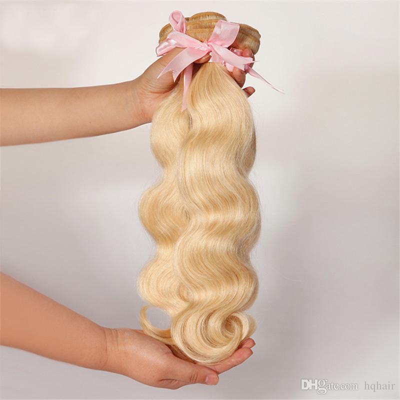 Best Selling Brazilian Blonde Body Wave Hair Bundles Remy Human Hair