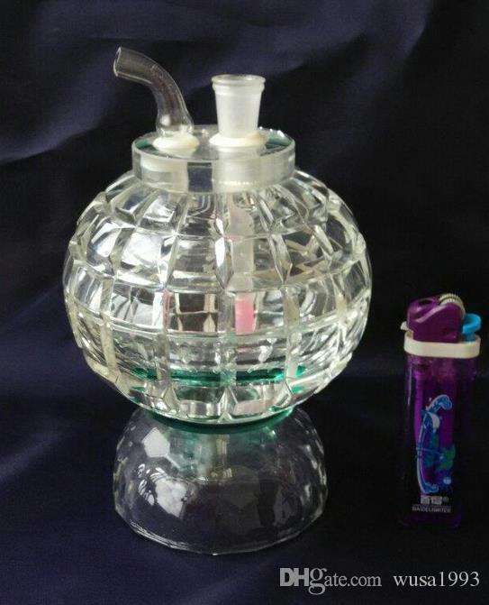 wholesalers ----- 2015 new High 15cm large Bowling Crystal Hookah / glass bong high 11cm, gift accessories pot, walk the plan