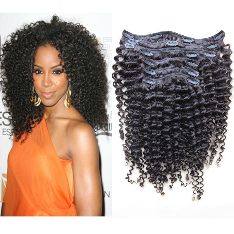 100 human hair clip in extensions kinky curly brazilian human clip 100 human hair clip in extensions kinky curly brazilian human clip in hair extension natural hair full set with clips black 70g hair extensions for girls pmusecretfo Gallery