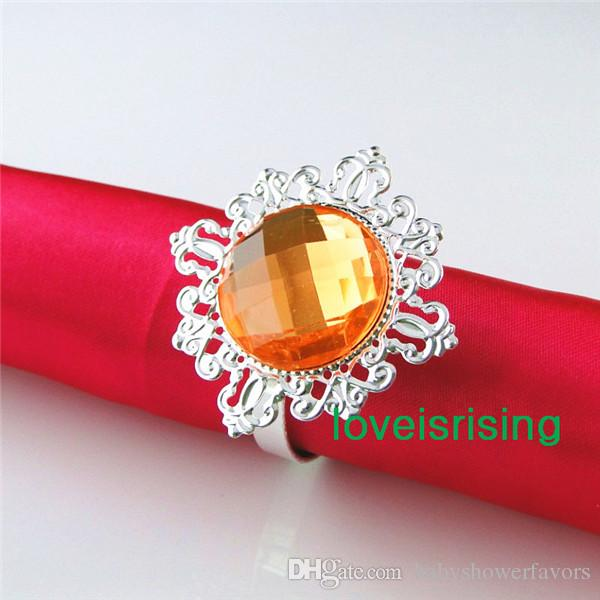 Lowest Price--100% High Quality Pink Vintage Style Napkin Rings Wedding Bridal Shower Napkin holder--