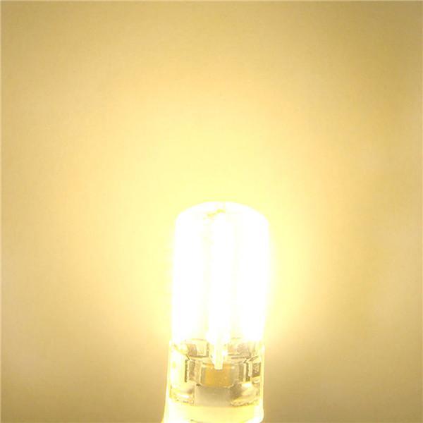 Vente chaude G9 3W 80 LED 3014 SMD Silicone de maïs de maïs de maïs de maïs en silicone pure blanc chaud blanc 110 / 220V