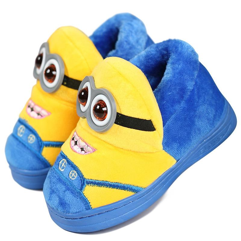 New Cartoon Slippers Non Slip Minions Slippers Children Home Shoes ...