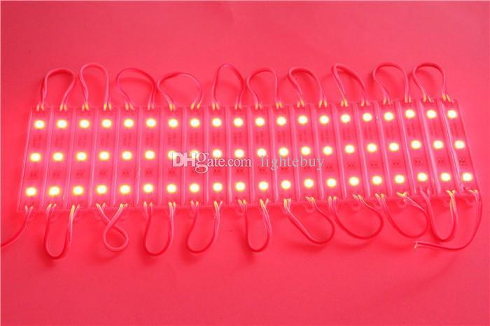 Su geçirmez IP65 DC12V SMD 5050 3 LED Modülleri RGB LED modül ışık lambası Sıcak beyaz Soğuk beyaz Kırmızı Mavi Sarı LED modül ışık lambası