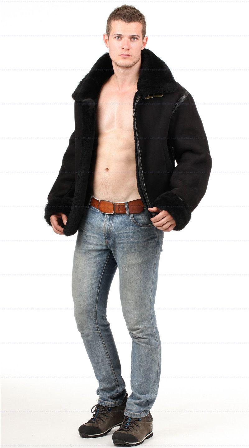Erkekler ve kadınlar için koyun derisi ceket