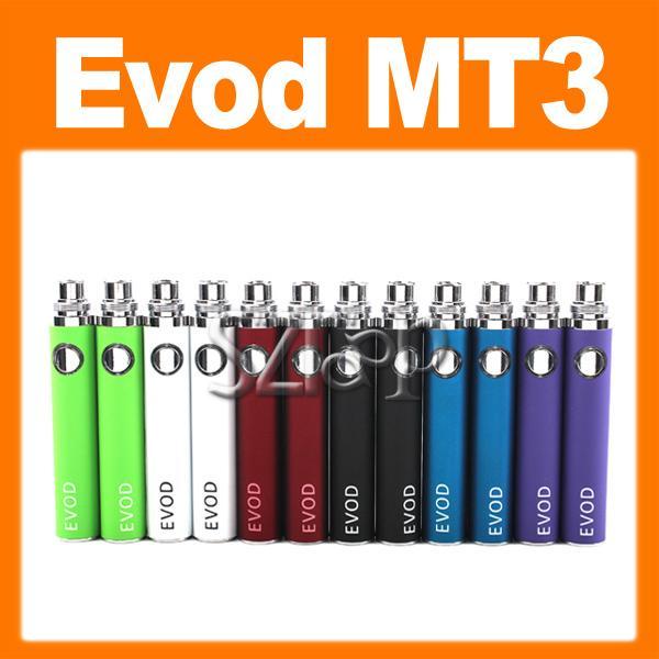 EVOD E Cigarro Evod Cigarro Cor Duplo E-VOD MT3 Cigarro Eletrônico MT3 Atomizador evod kit E Cig em Caixa De Presente por UPS Rápido 0211001