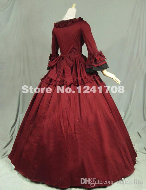 Gothic Renaissance Victorian Dress Gown Reenactment Costume Civil War Ball Gown Period Dress Prom Reenactment Theatre Clothing