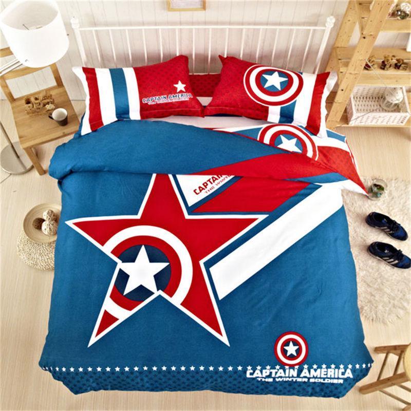Finest Marvel Avengers 100% Cotton Classical Captain America Bedding Set  WU77