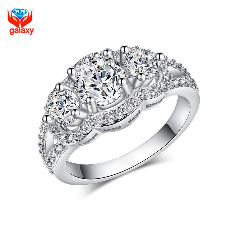 Marvelous GALAXY 100% 925 Sterling Silver Wedding Rings For Women Top Quality Cubic  Zircon Diamond Engagement Ring Woman Jewelry ZR091 Ring Wedding Ring  Engagement ...