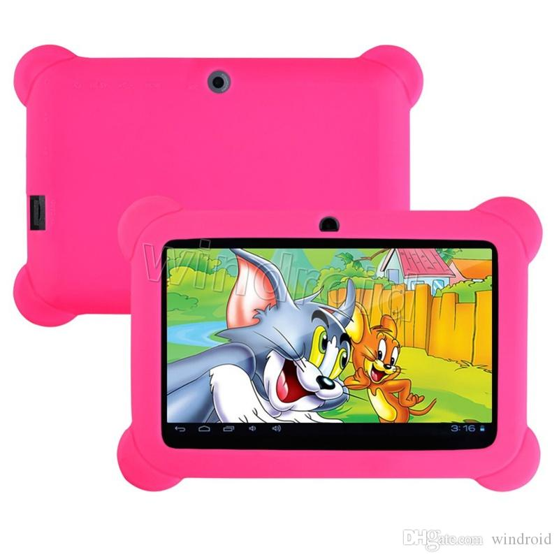 "Anti Dust Kids Child Soft Silicone Rubber Gel Case Cover For 7"" 7 Inch Q88 Q8 A33 A23 Android Tablet pc MID ful"