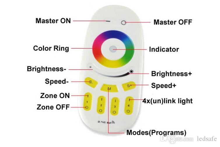 Mi Light WIFI 2.4G 12W Smart Flush Mount LED Down Lights Bulb RGBW or 2700K to 6000K Group Division +Milight WIFI Hub+RF Remote