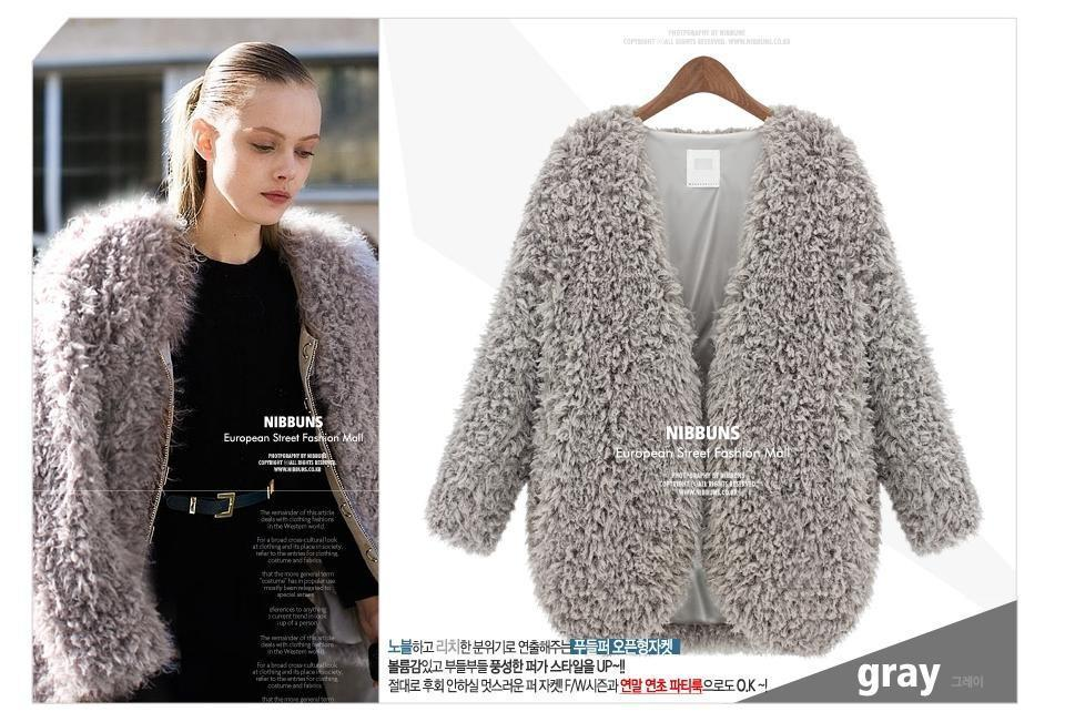 Women Jackets Spring Autumn Lambs Wool Batch Shoulder Short Coat ...