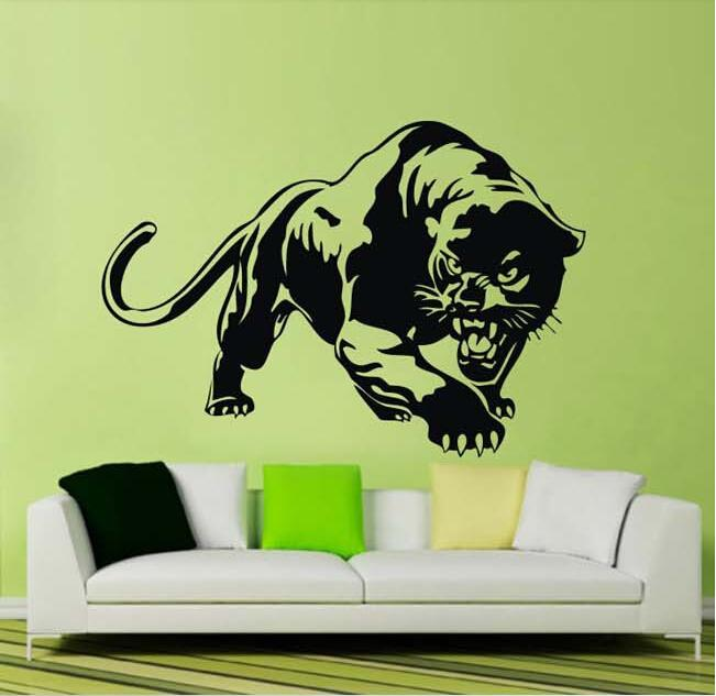 Removeable Wall Mural Decals Fierce Cheetah Panther Wall Stickers For Kids  Teenager Bedroom World Map Wall Sticker Zebra Wall Decals From Joystickers,  ...
