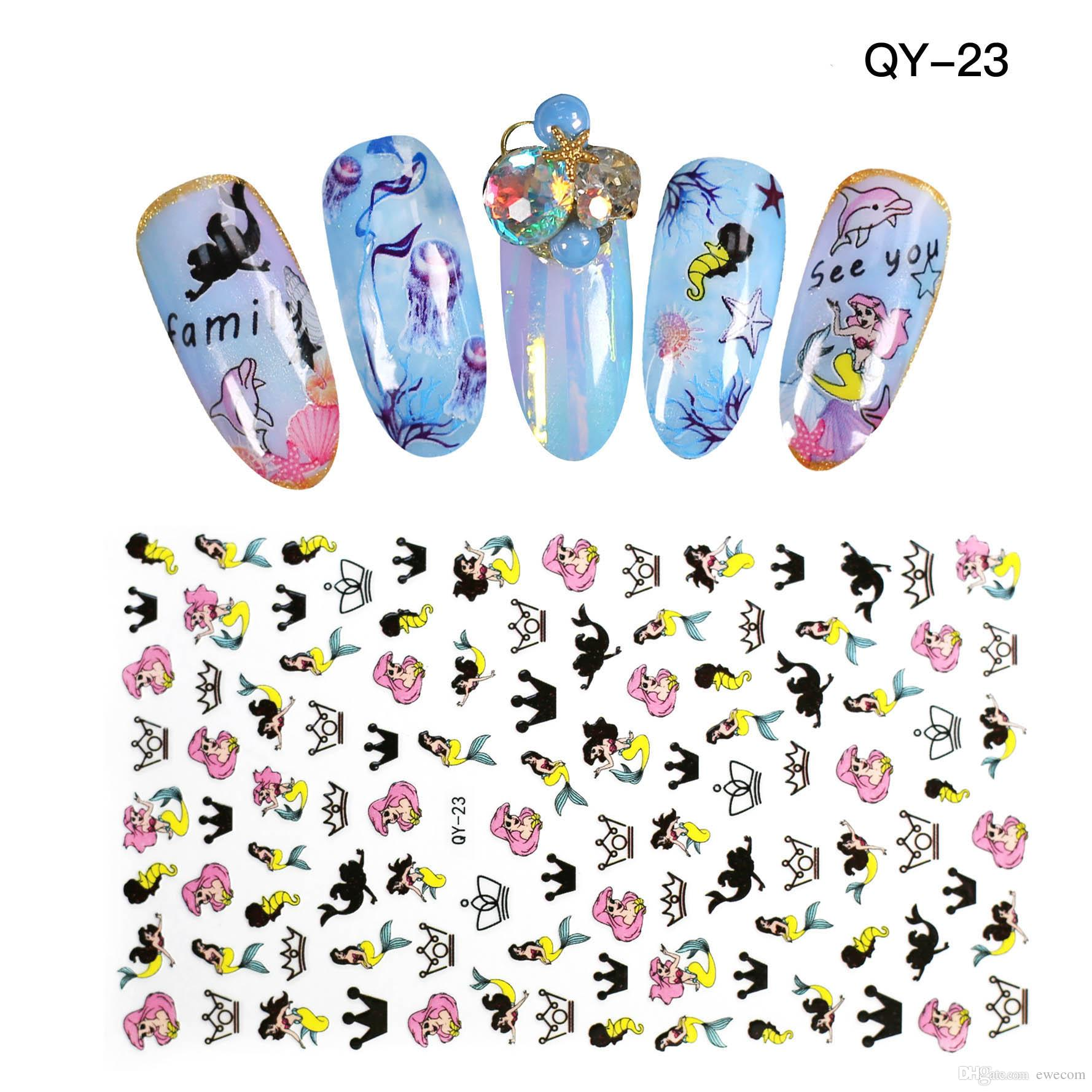 High Quality Cute Cartoon Nail Art Stickers Decals Nail Girl Design ...