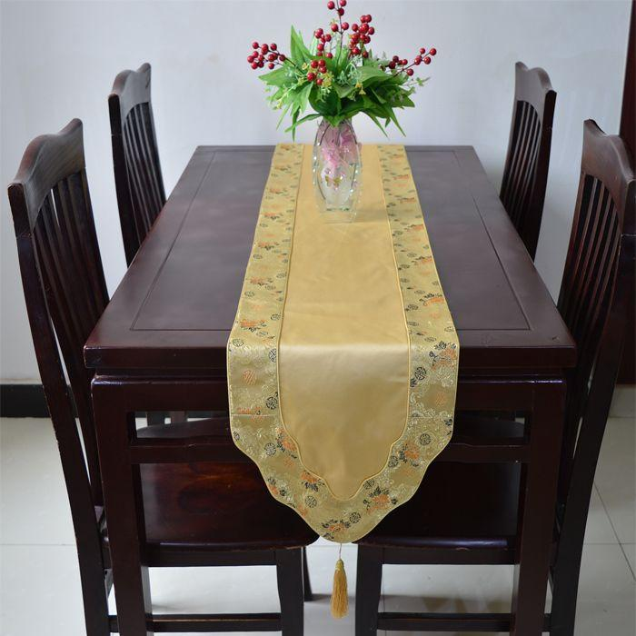 Bon New Design Gorgeous Feast Decorative Table Runner Silk Brocade End Table  Tablecloth High Quality Bed Runners Multi Color Blue Table Runners Braided  Table ...