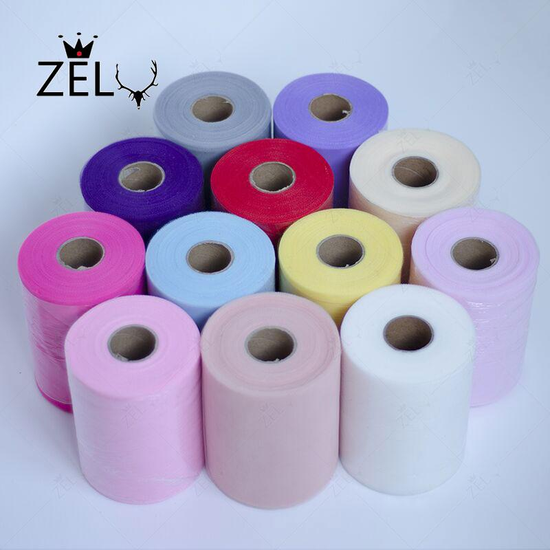 ZLJQ 90mX15cm Tulle Roll Organza Sheer Gauze for Table Runner and Home Garden Birthday Wedding Party Decoration Supplies