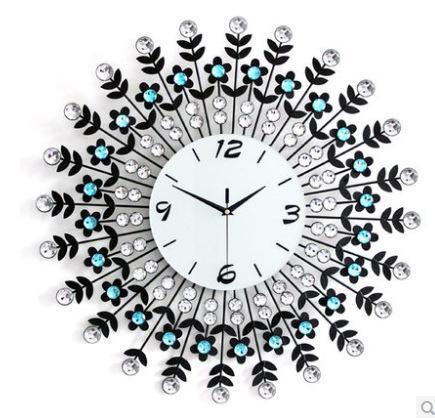 Living Room Wall Clocks large living room wall clock wrought iron wall clock diamond clock