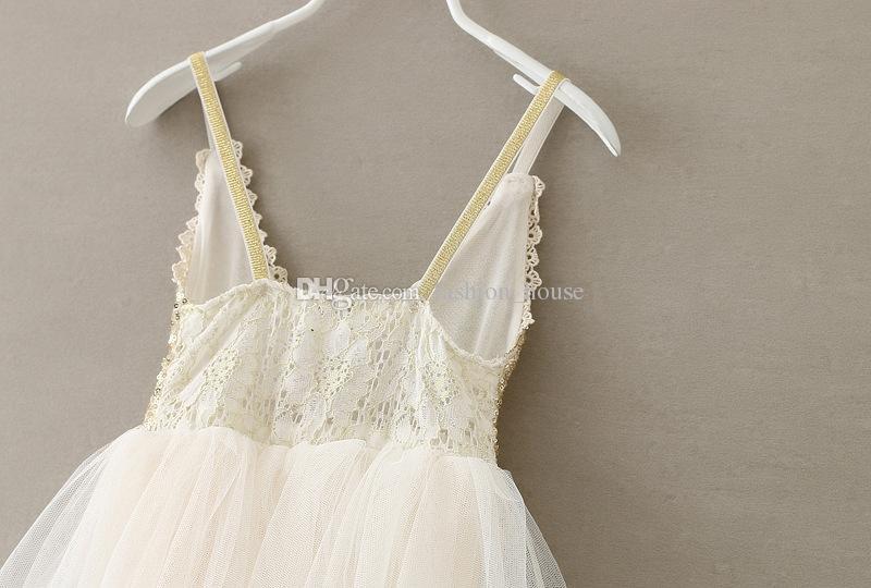 Vestito da principessa delle paillettes delle ragazze vestito da ultima estate 2015 dei bambini dell'estate del vestito dai bambini del vestito dal tutu di Tulle dell'abito delle sequins di Tulle