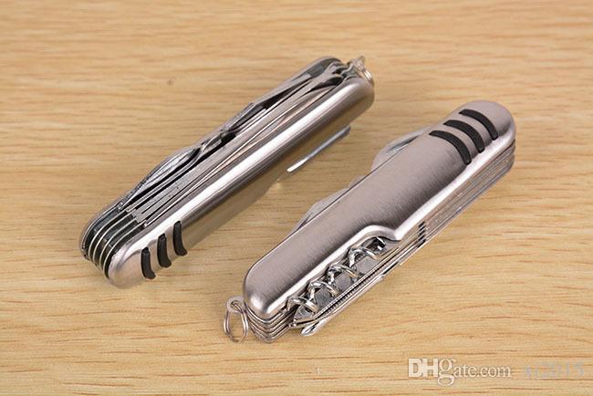 Outil multifonction en acier inoxydable Camping Couteau de l'armée Couteau multifonction Outils d'urgence meilleur cadeau