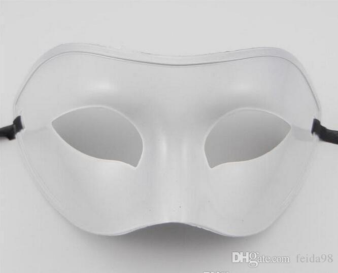 Máscara do partido Clássico Traje Mulheres / Homens Venetian Masquerade Metade Máscara Facial 4 cores