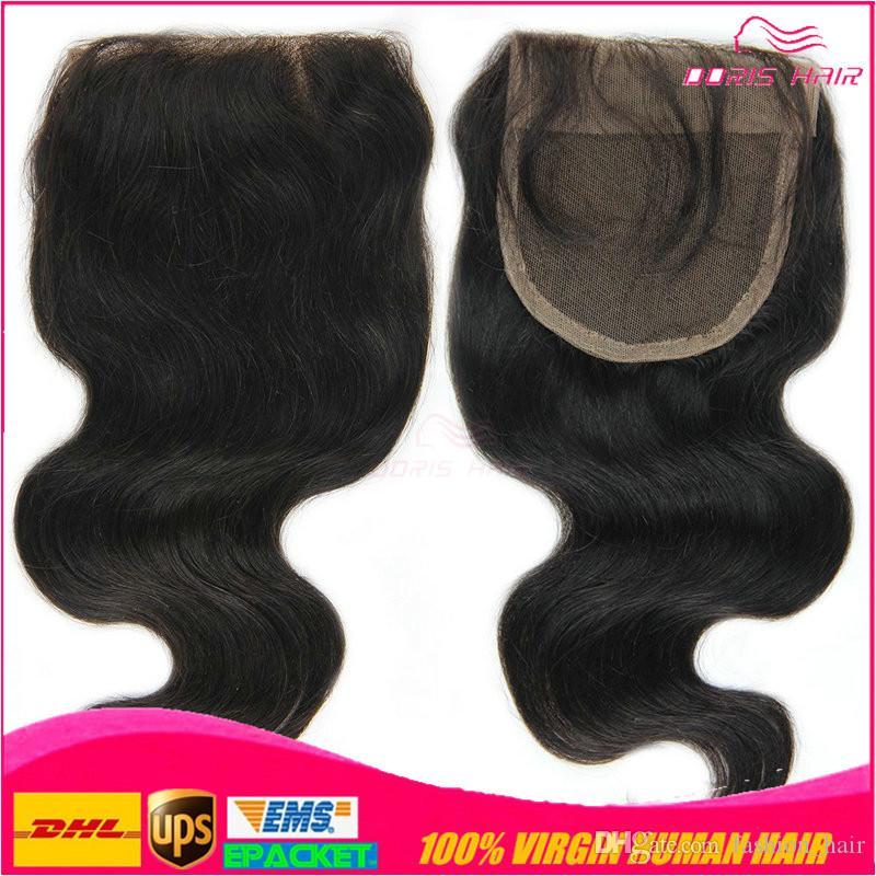 Freies Spitzeschließen + brasilianisches peruanisches indisches malaysisches kambodschanisches reines Menschenhaar-Webart-Körper-Haar Haar bündelt Haareinschlagfaden Freies Verschiffen