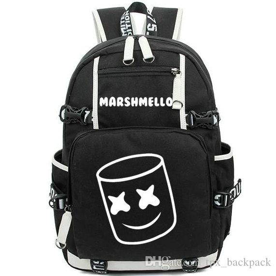 f516debc42 Masked Dj Backpack Marshmello Day Pack Alone Star School Bag Music Packsack  Quality Rucksack Sport Schoolbag Outdoor Daypack Book Bags Herschel  Backpacks ...