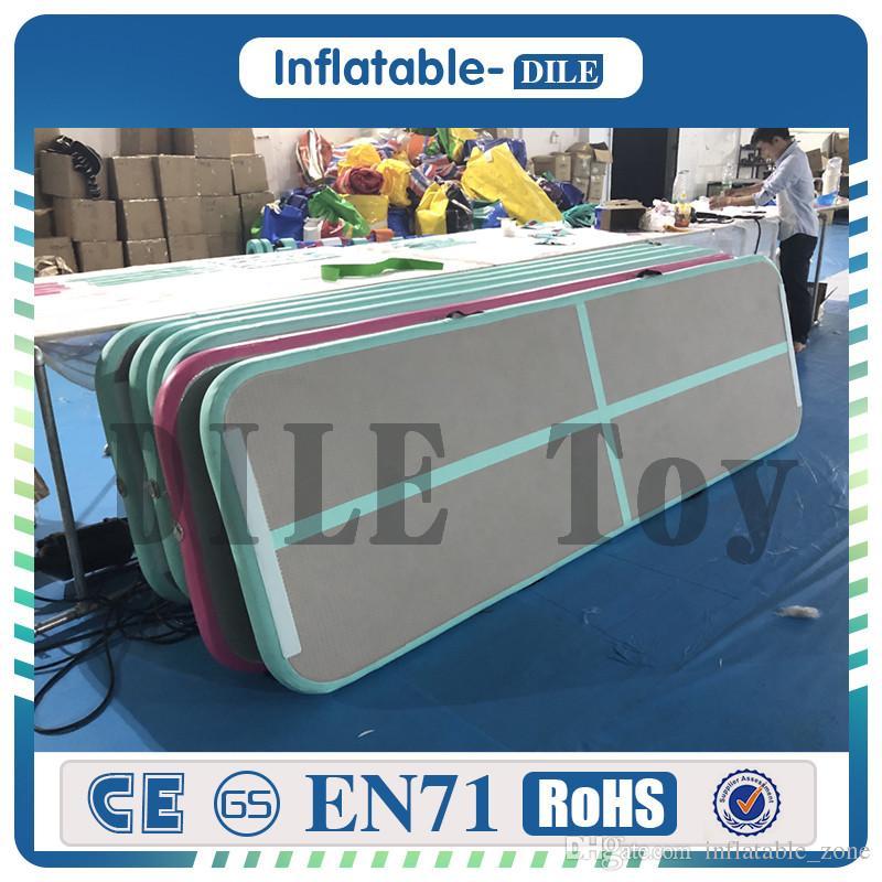 Versandkostenfrei tür zu tür aufblasbare luftkissenmatte für verkauf fabrik preis china trampoline aufblasbare luftwäschen spur aufblasbare gymnastikmatte