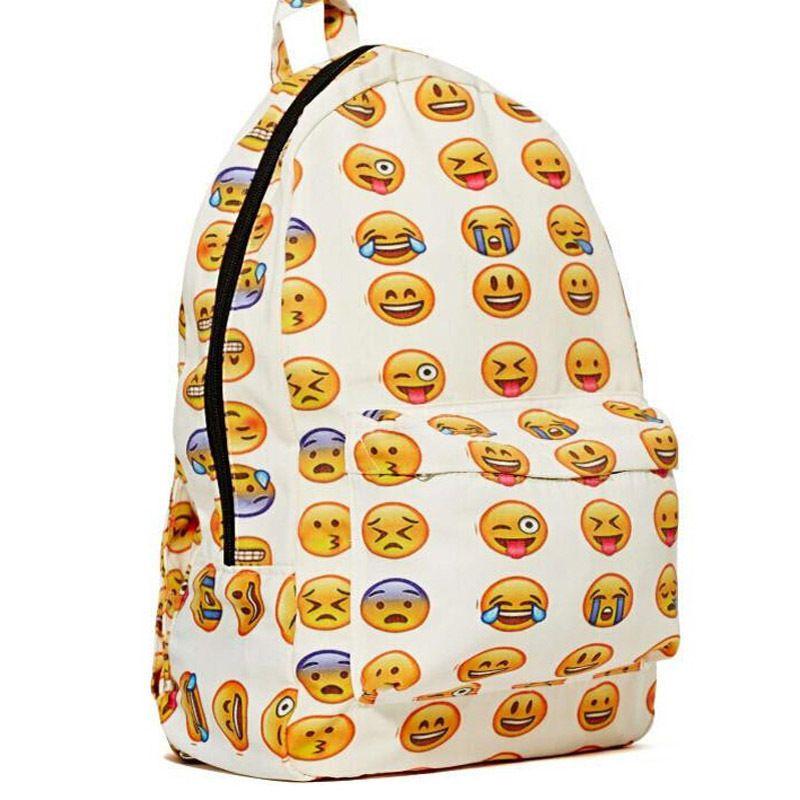 1bf20cde04 Custom Design Print Logo New 2016 Boys Girls Smiley Face Fangirl Emoji  Backpack Funny School Bag Shoulders Bag School Bags For Teenage Girls  Dakine Backpack ...