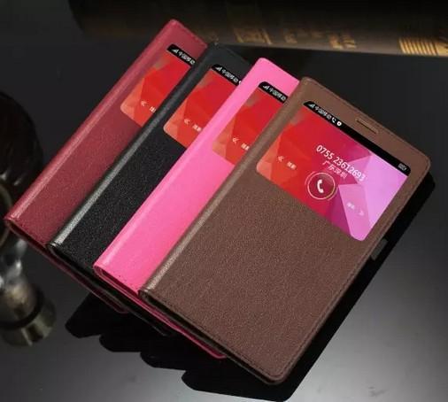 Heißer Verkauf Für OPPO R7 Plus Fall Ultra-dünne Dünne Abdeckung Neue Luxus Original Bunte Flip Fenster Echtem Leder Fall Für OPPO R7 Plus