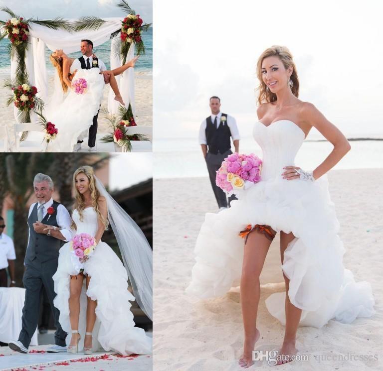 Vestidos de novia cortos con corset