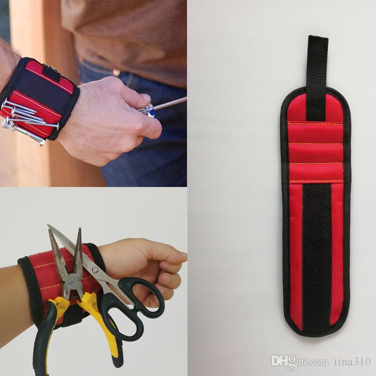 Compre Pulsera Magnética Herramienta De Bolsillo Cinturón Bolsa Tornillos Portaherramientas  Herramientas De Sujeción Pulseras Magnéticas Práctica Fuerte ... 98a6073168d0
