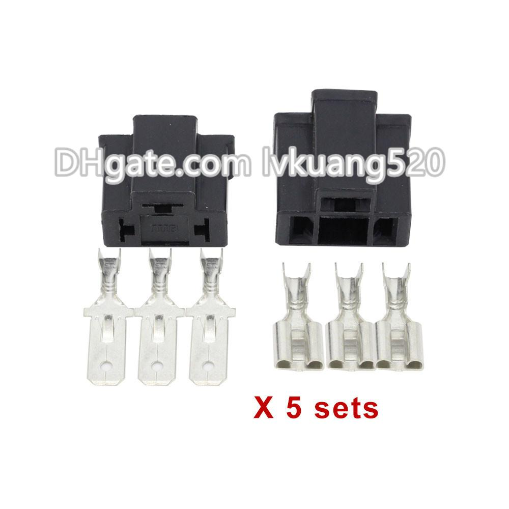 Pa66 H4 3 Pin Unsealed Cable Car Connector Electrical Electricvehicles Ssr Solid State Relay Automotive Plug Lamp Holder Socket Dj7033 78 11 21