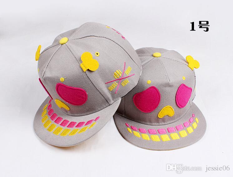 Human skeleton hat men's and women's hip-hop hat dance flat skull tide hat cap baseball caps spring summer hot