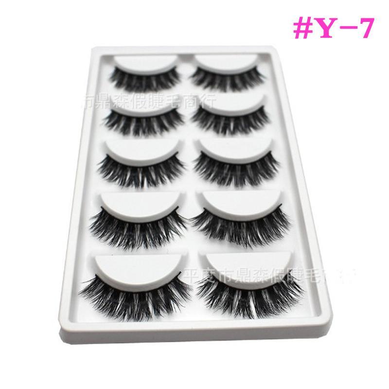 #Y-7#E8#E67 New /box Handmade Thick Long False Eyelashes Mink Eyelash Natural Eye Lashes Makeup Product for Lady