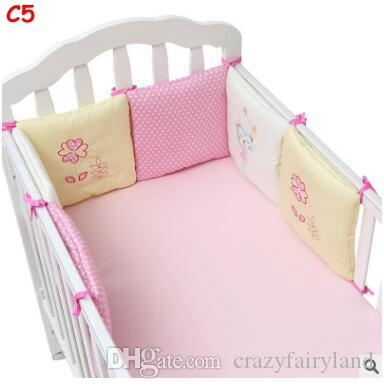 Cartoon Animal Crib Bumper Baby Bed Bumper in the Crib Cot Bumper Baby Bed Protector Crib Bumpers Newborn Toddler Bed Bedding Set
