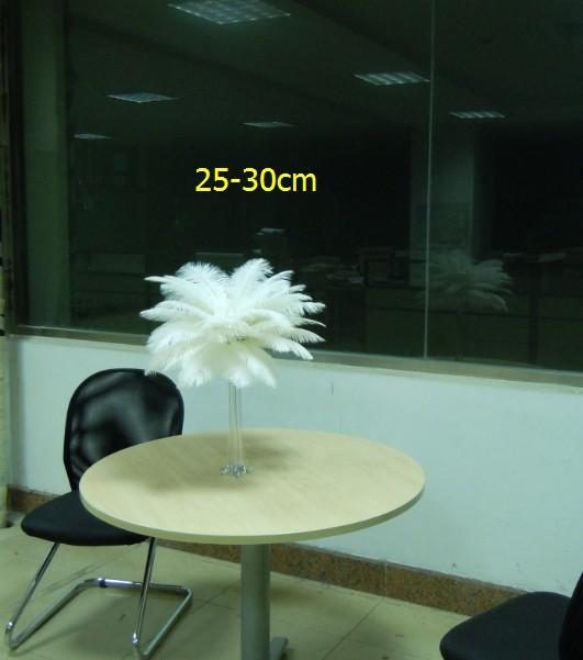 Hurtownie 200 szt. 12-14 calowe Białe Plumete Piórki Strusie Dla Centrum Ślubnego Piórne Centralne Opiece Wystrój Piór Wesel