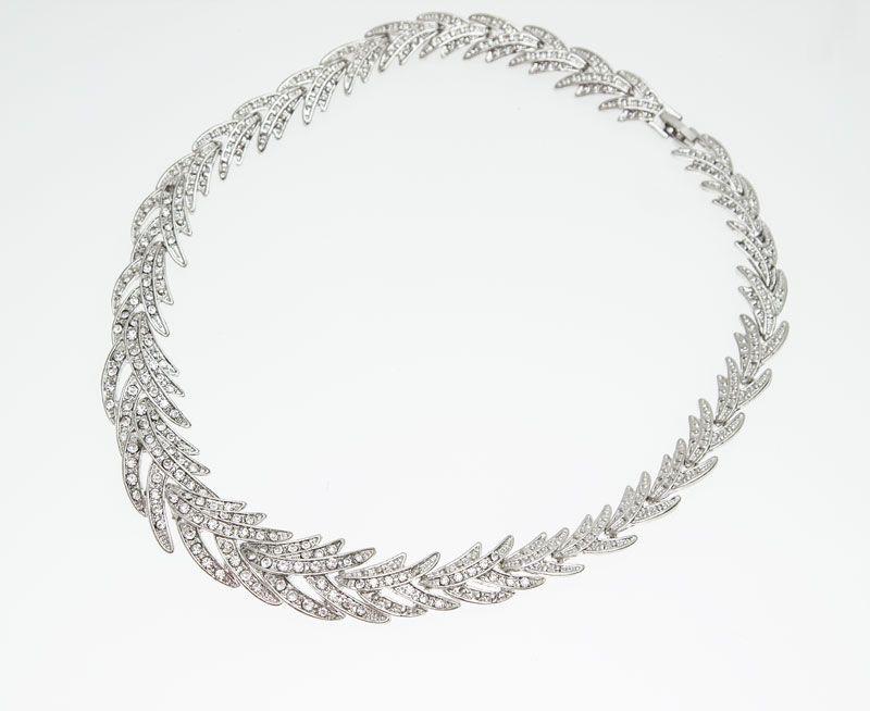 Frete Grátis 2015 Folhas Forma de Prata Banhado Limpar Cristal Jóias Set New Fashion Wedding Nupcial Conjuntos de Jóias Traje Africano