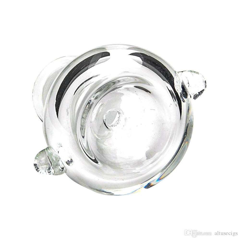 14mm 18mm 라운드 여성 유리 그릇 유리 봉 그릇 어댑터 유리 그릇에 대 한 여성의 유리 물 파이프 유리 봉