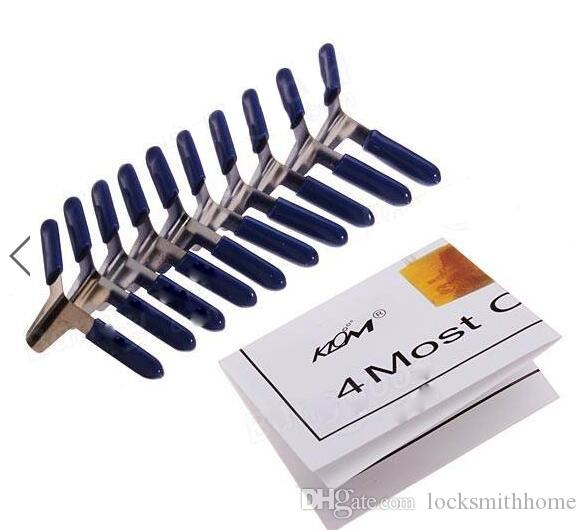 Spedizione gratuita 10 pezzi KLOM lucchetto Shim Picks Set Lock Pick Accessori Set strumenti fabbro strumenti di blocco pick