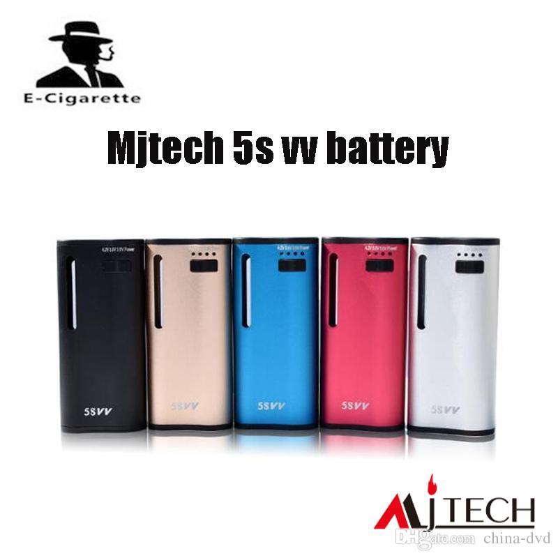 Autherntic Mjtech 5S VV Box Mod built-in 650 mAh batteria Twist Sigaretta Elettronica con Cera 100% Originale DHL LIBERA il trasporto