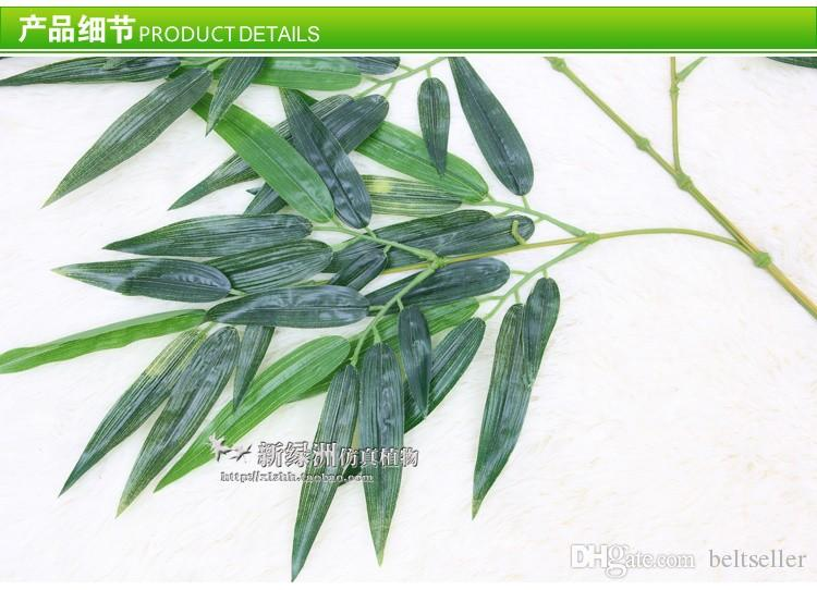 Soie artificielle bambou plantes artificielles feuilles des branches d'arbres artificiels branches de feuilles de bambou vert décoration Livraison gratuite
