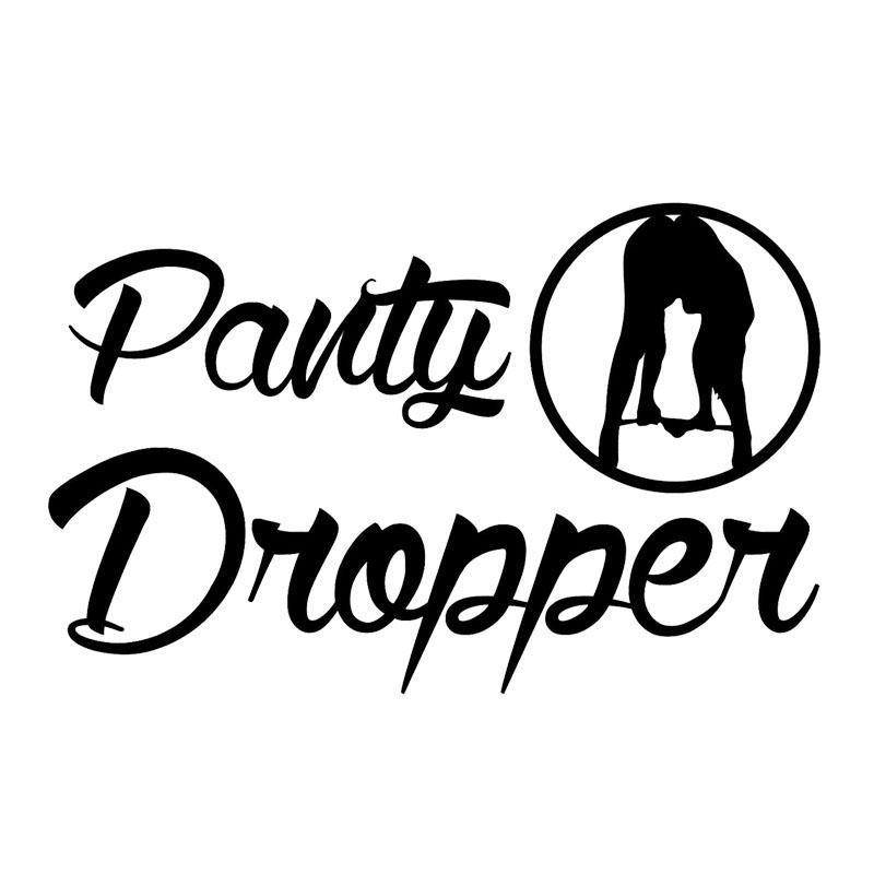 793b5ec3a Compre Personalidade Da Moda PANTY DROPPER Bumper Car Tail Decalque  Decorativo Adesivos De Vinil Engraçado Acessórios De Xymy797
