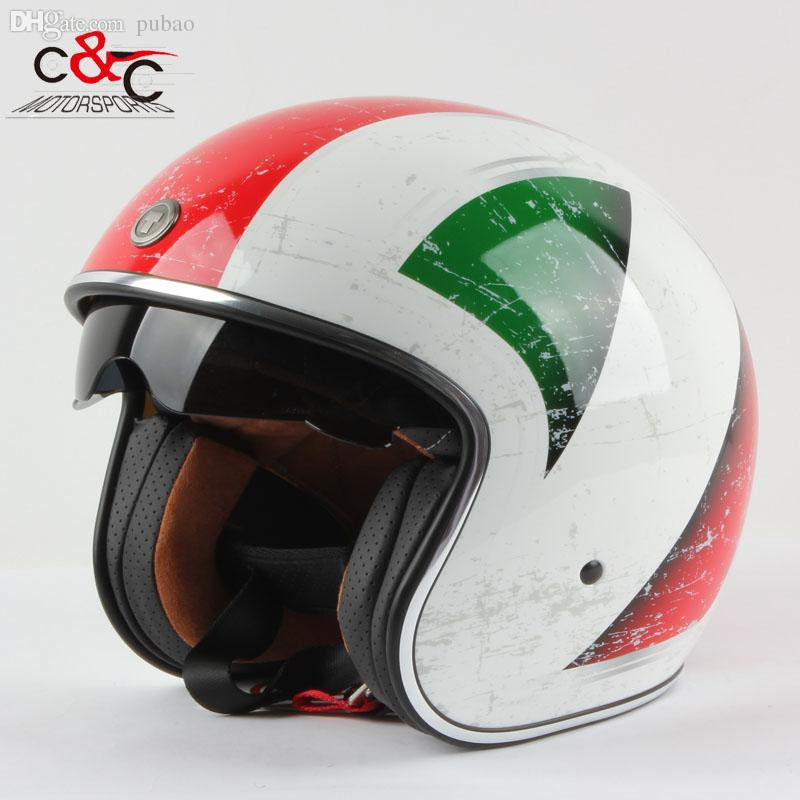 wholesale torc t57 3 4 vespa open face vintage scotter motorbike helmet motocross capacete. Black Bedroom Furniture Sets. Home Design Ideas