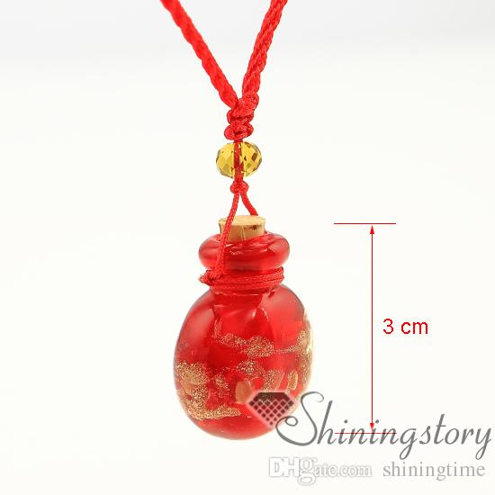 round glitter essential oil necklace wholesale perfume jewelry perfume pendant diy bottle necklace Perfume bottle jewelry scents
